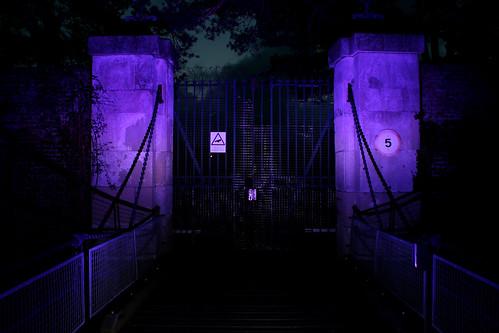 Fort Brockhurst Secondary Gate, Violet Gel On Flash