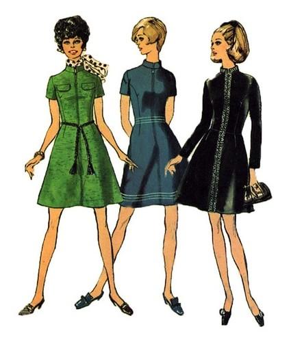 Simplicity 8482 1960s A Line Dress