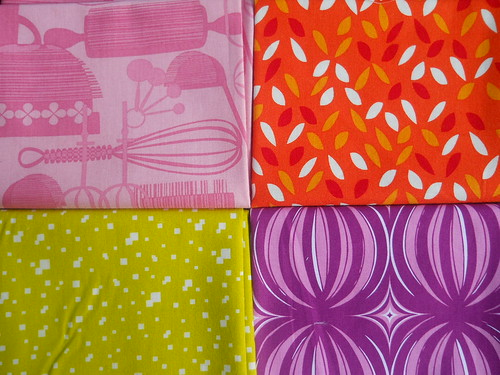 four quilting cotton fat quarters