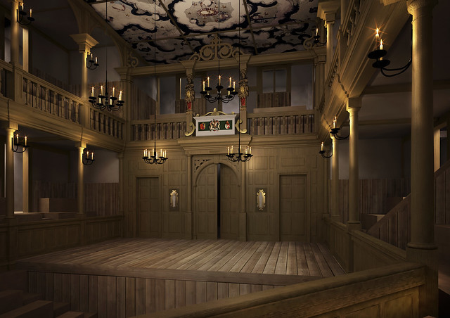 A computer generated image of the interior of the Sam Wanamaker Playhouse © Shakespeare's Globe, 2013