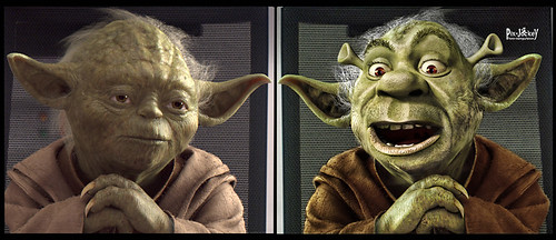 Yoda Shrek Before and After