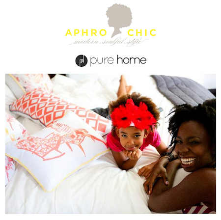 AphroChic Pillows and Wallpaper at Pure Home