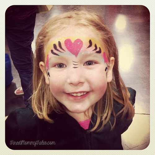 A little face paint action at the Natural Parenting Expo -wm
