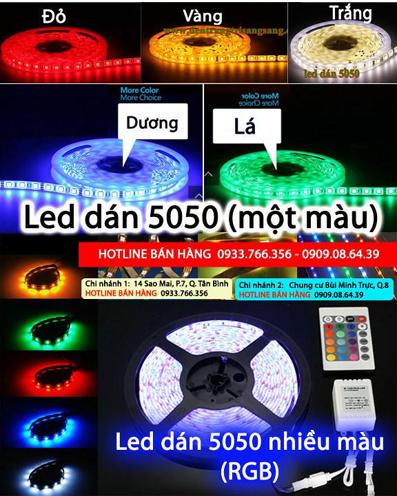chuyên led dây dán 3528, dây led dán 5050 giá rẻ nhất 2013