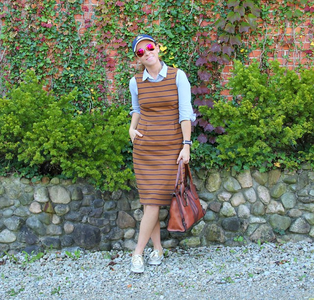 how to style a midi jumper via Kristina J blog