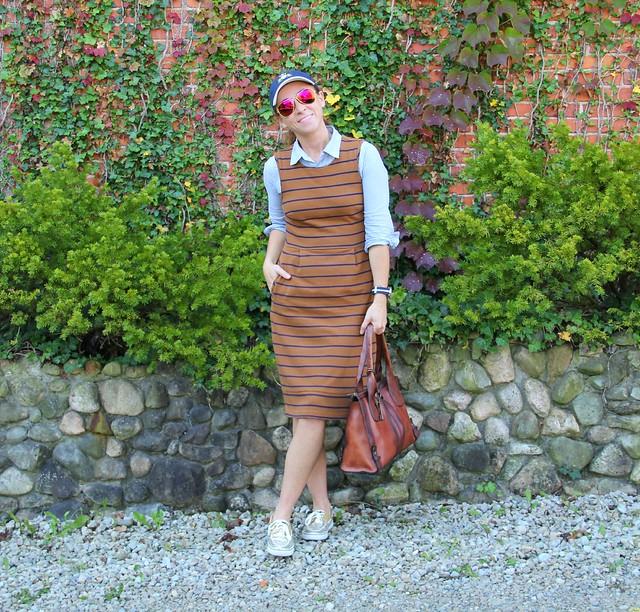 how to style a midi jumper via Kristina J blog