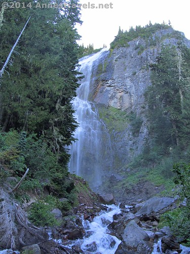 Eagle Cliff Falls from the end of the side trail off of the Spray Park Trail, Mt. Rainier National Park, Washington