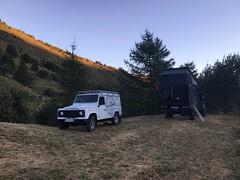 Levé de soleil sur notre Bivouac - Valloire 2016