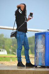 201608-21 (24) r8 woman by the rail at Laurel Park