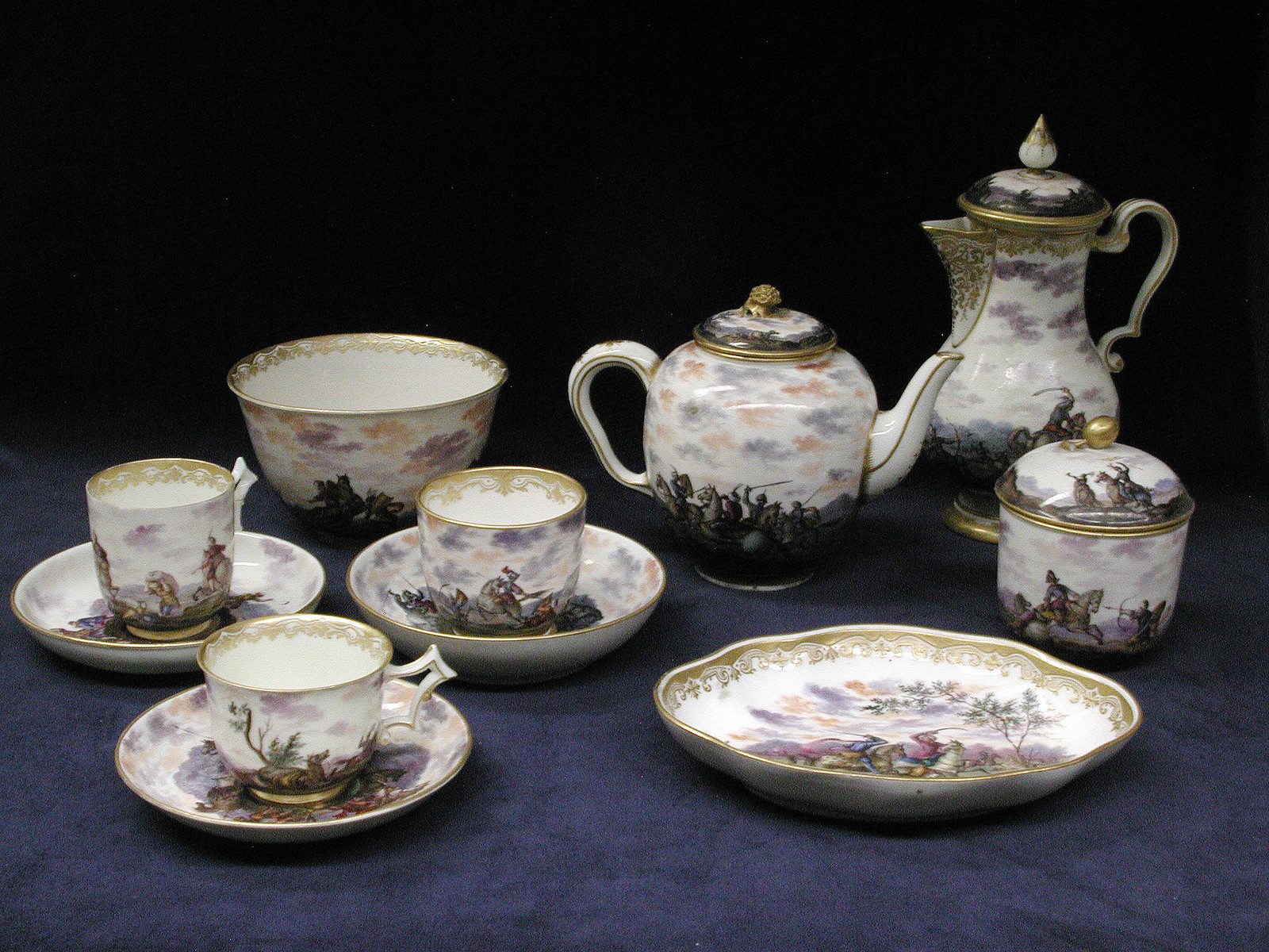 1743. Tea Service. Italian. Porcelain. metmuseum