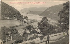 1908 View of the River Confluence at Harpers Ferry (Postcard)