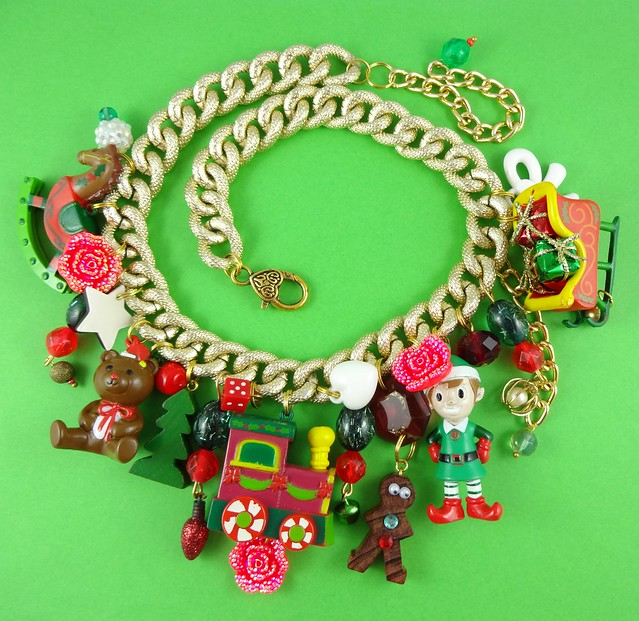 Kitschy Christmas Charm Necklace
