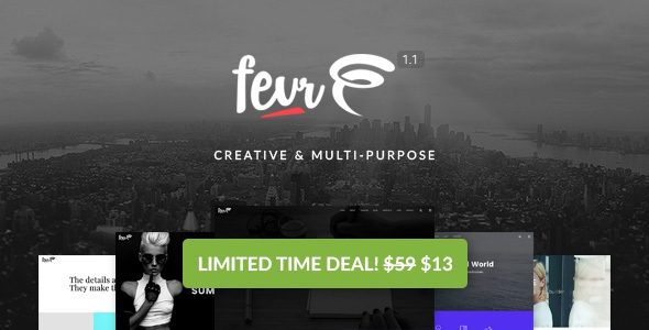 Fevr v1.1.4 - Creative MultiPurpose Theme