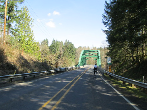Clackamas River bridge by Barton
