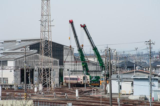 JR東海 美濃太田車両区 モハ381-1 搬出