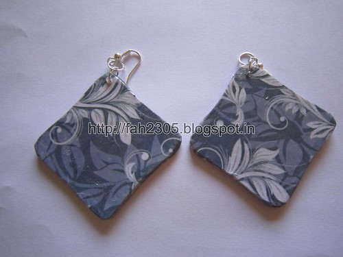 Handmade Jewelry - Card Paper Earrings  (14) by fah2305