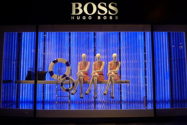 Vitrines Hugo Boss - Paris, mars 2013