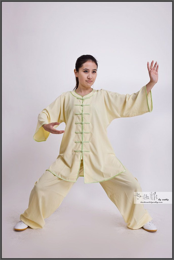 16011-1 low collar Tai Chi clothing for women