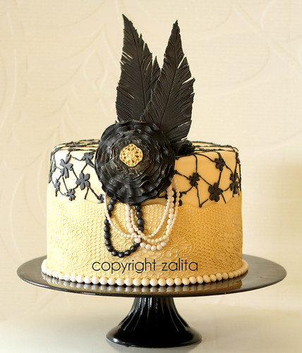 the Great Gatsby inspired cake by {zalita}
