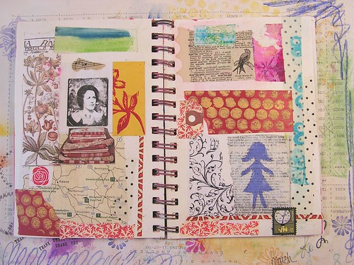 Collage Page in Art Journal, Part 1