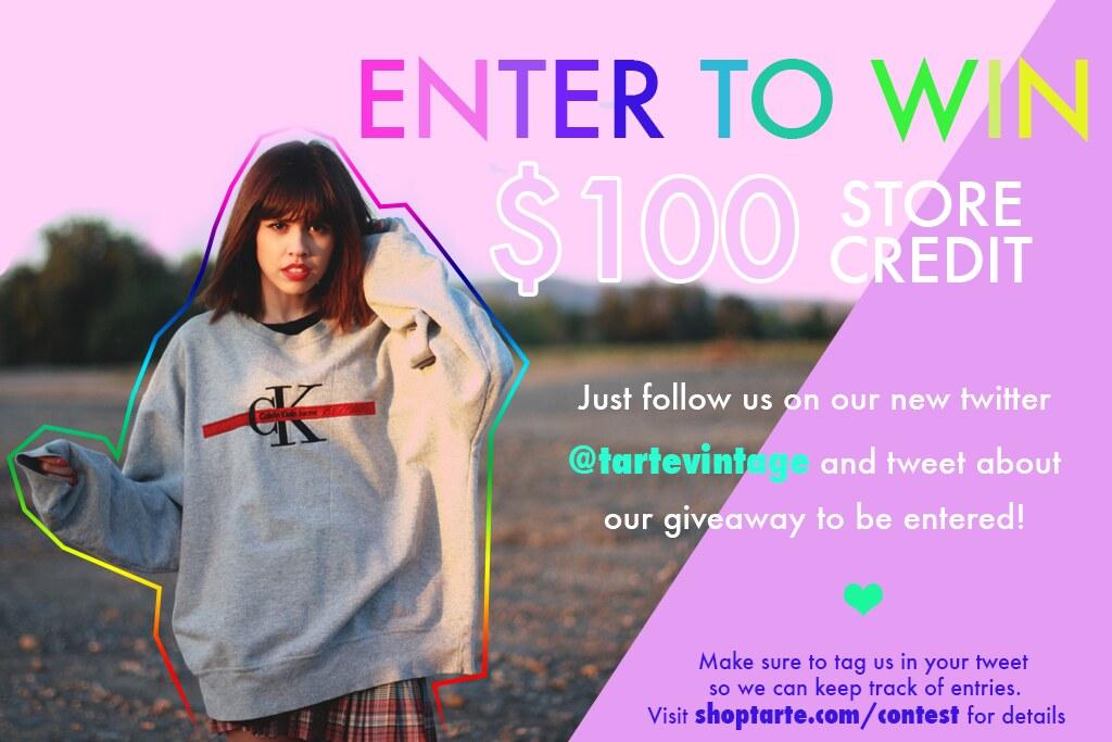 Tarte Vintage Giveaway $100 contest, shoptarte