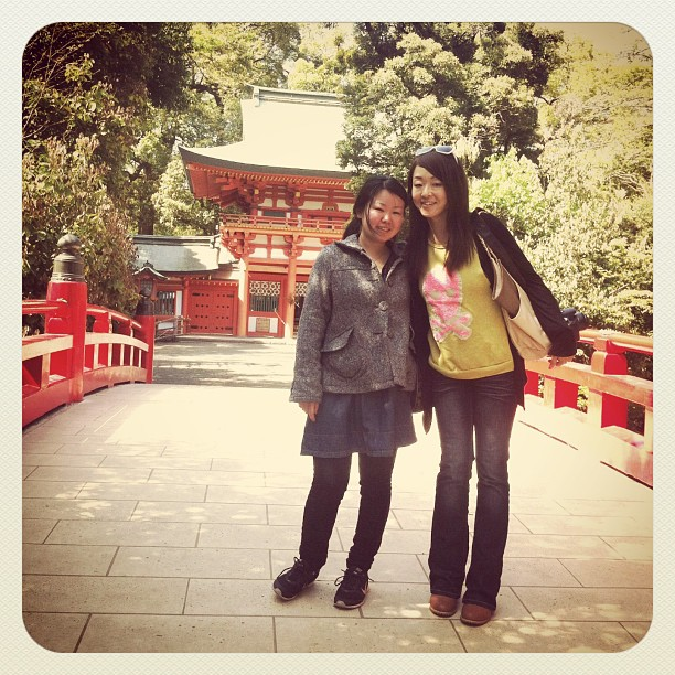 Hikawa Shinto Shrine with lovely @makindia_makikomar . I wish her best on her new adventure^_−☆ #ichigonewjourney