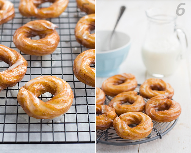 Receta de crullers franceses caseros. French crullers