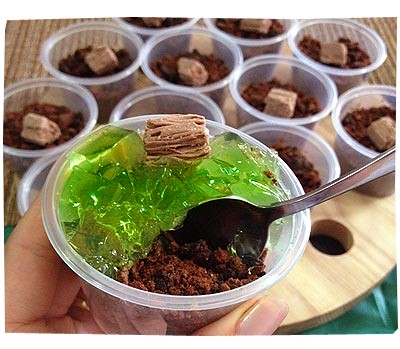 Minecraft Jelly Cups