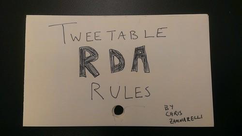 tweetable RDA rules by chris zammarelli