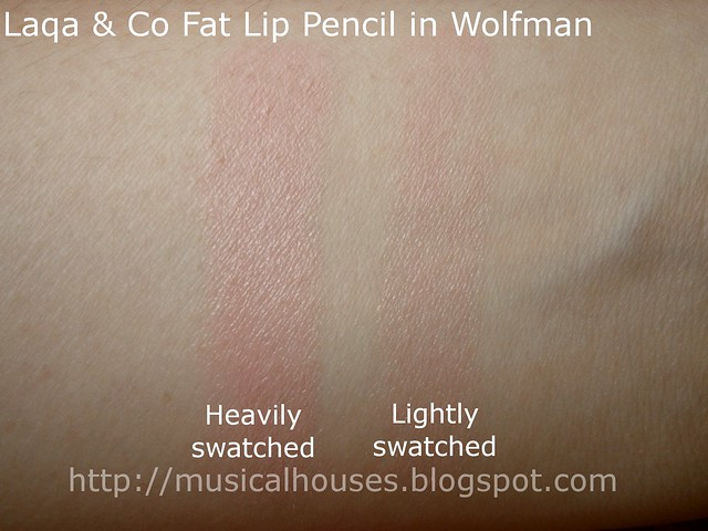laqa and co wolfman fat lip pencil swatch
