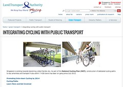 Integrating Cycling with Public Transport | Green Transport | Land Transport Authority