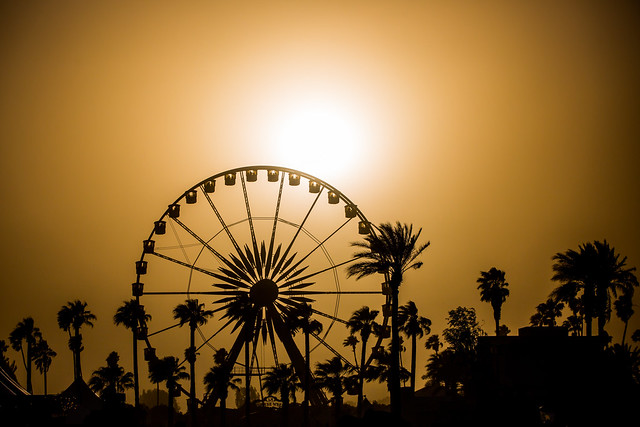 Sunset on Coachella, Coachella 2013 -- Indio, CA