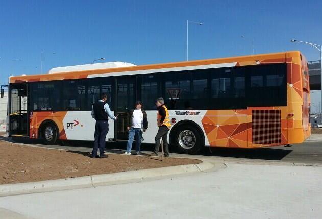 New PTV bus colour scheme, showing operator logo (via @trainlined on Twitter)