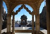 On the roof of Adinath Jain temple, Shatrunjaya mountain, Palitana, Gujarat