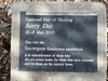 National Sorry Day  -  Snowgum Tree plaque - Australia