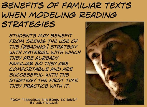 Benefits of familiar texts when modeling reading strategies