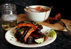 Mexican-spiced baby back ribs with honey chipotle…