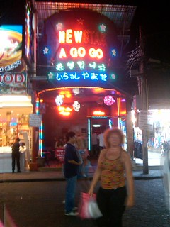 Image of Walking Street. street walking pattaya