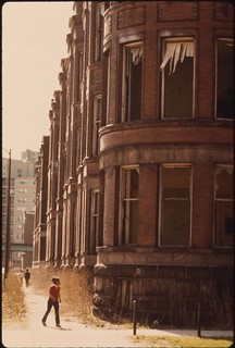 Empty Housing In The Ghetto On Chicago's South Side Structures Such As This Have Been Systematically Vacated As A Result Of Fires, Vandalism Or Failure By Owners To Provide Basic Tenant Services, 05/1973