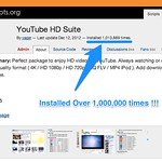 YouTube HD Suiteが100万インストール達成!