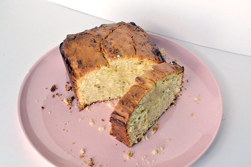 Toasted Coconut Pound Cake in a Bread Pan