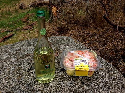 Pærecider og pastasalat