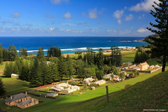 View Over Quality Row to Sydney Bay From Queen Elizabeth Lookout, Norfolk Island