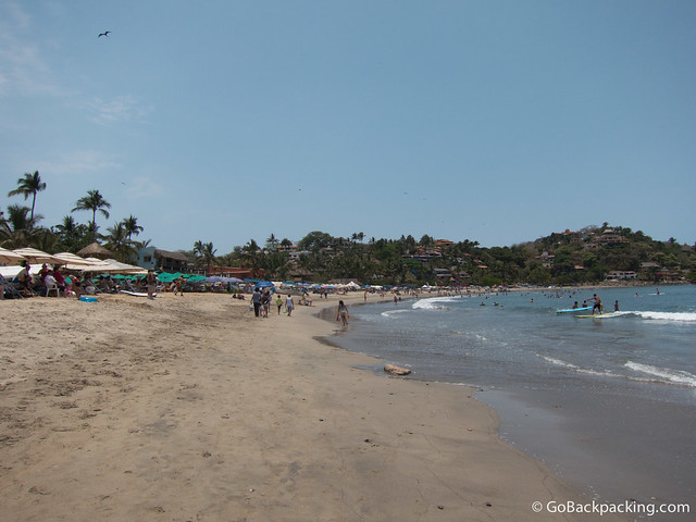 Stand up paddle boarding is a popular sport in Sayulita