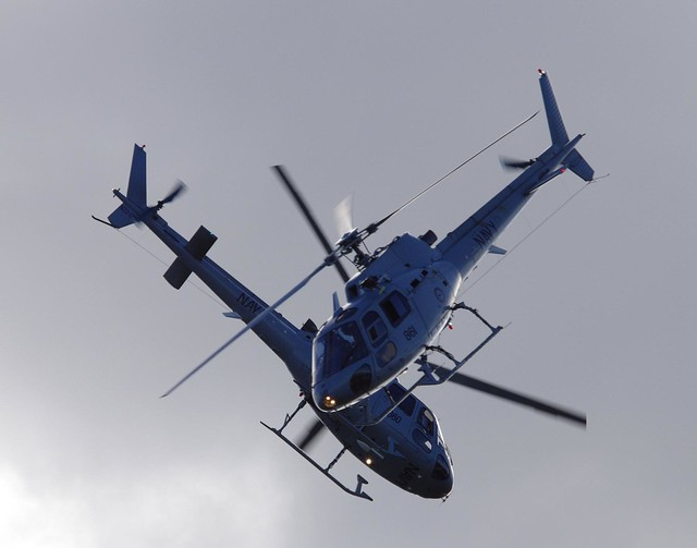 Royal Australian Navy Eurocopter AS350 Ecureuil (Squirrel) synchronised flying - Wings Over Illawarra airshow