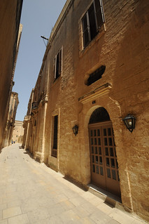 Wide angle street, Mdina