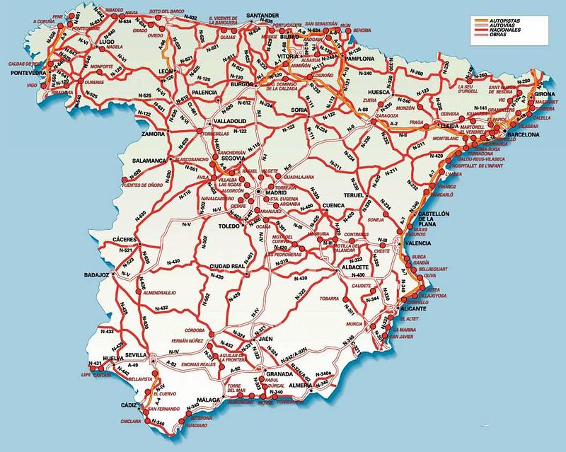 mapa de estradas portugal actualizado Mapas de Espanha | Roteiros e Dicas de Viagem mapa de estradas portugal actualizado