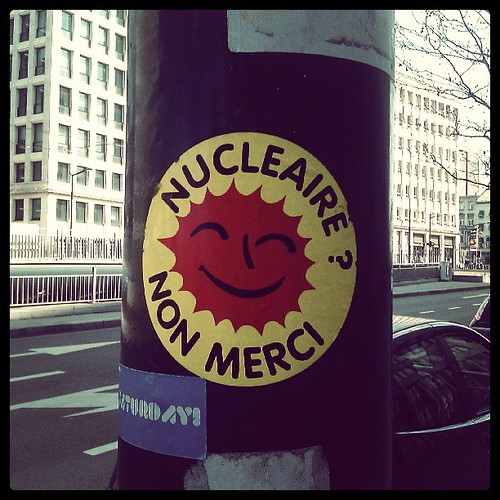 say no to nuclear #brussels #sticker #environment #streetart