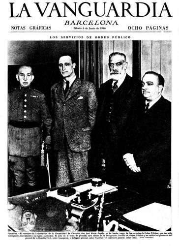 """Barcelona, 5 de junio de 1936,  """"los servicios de orden público devueltos a la Generalitat"""", by Octavi Centelles"""