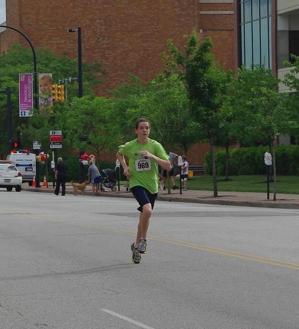 Noah running his 5K